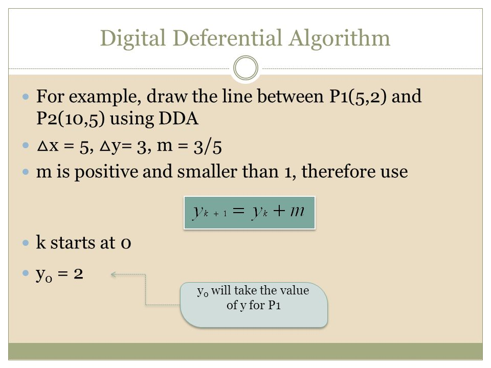 Dda Line Drawing Algorithm Numerical Example : Cgmb introduction to computer graphics ppt video