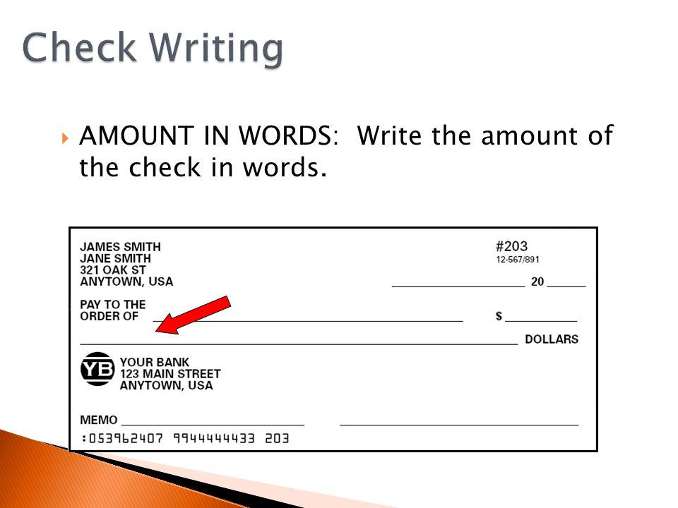 Is there a check writing feature in Word or Excel?
