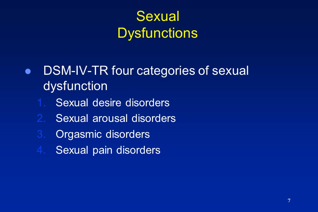 Abnormal sexual desire person an anus can have broken but 7