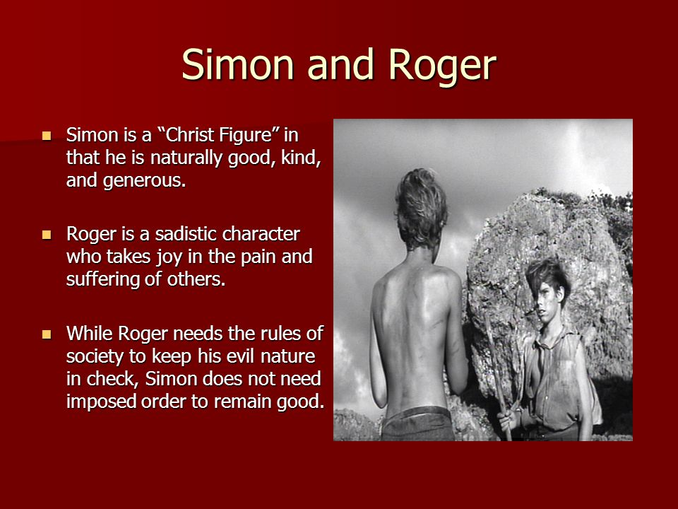 lord of the flies simon as a christ figure essay The character of simon in william golding's lord of the flies has often been   this is not an example of the work written by our professional essay writers.