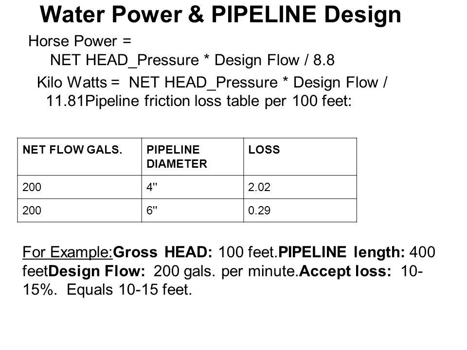 Water Power & PIPELINE Design