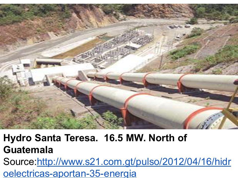 Hydro Santa Teresa. 16.5 MW.