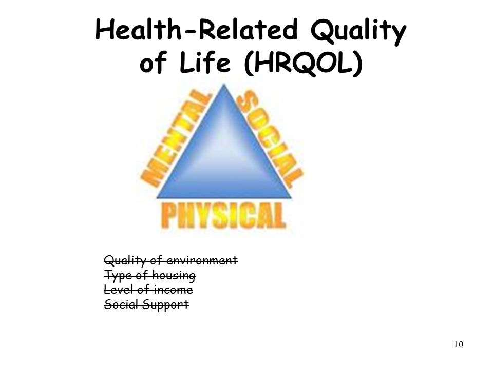 health related quality of life In health care, health-related quality of life (hrqol) is an assessment of how the individual's well-being may be affected over time by a disease, disability, or disorder measurement early versions of healthcare-related quality of life measures referred to.