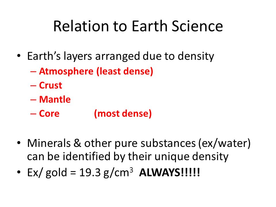 Relation to Earth Science