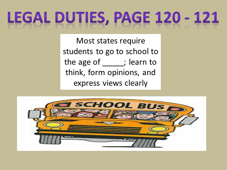 Legal Duties, page 120 - 121