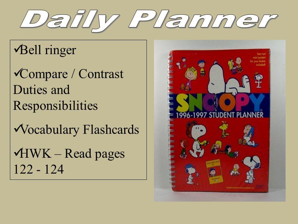 Daily Planner Bell ringer