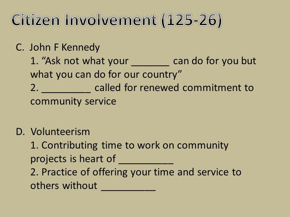 Citizen Involvement (125-26)