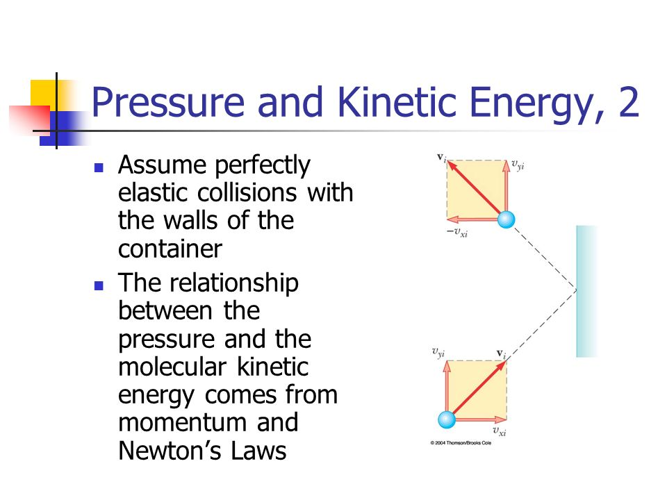 what is the relationship between pressure and kinetic energy