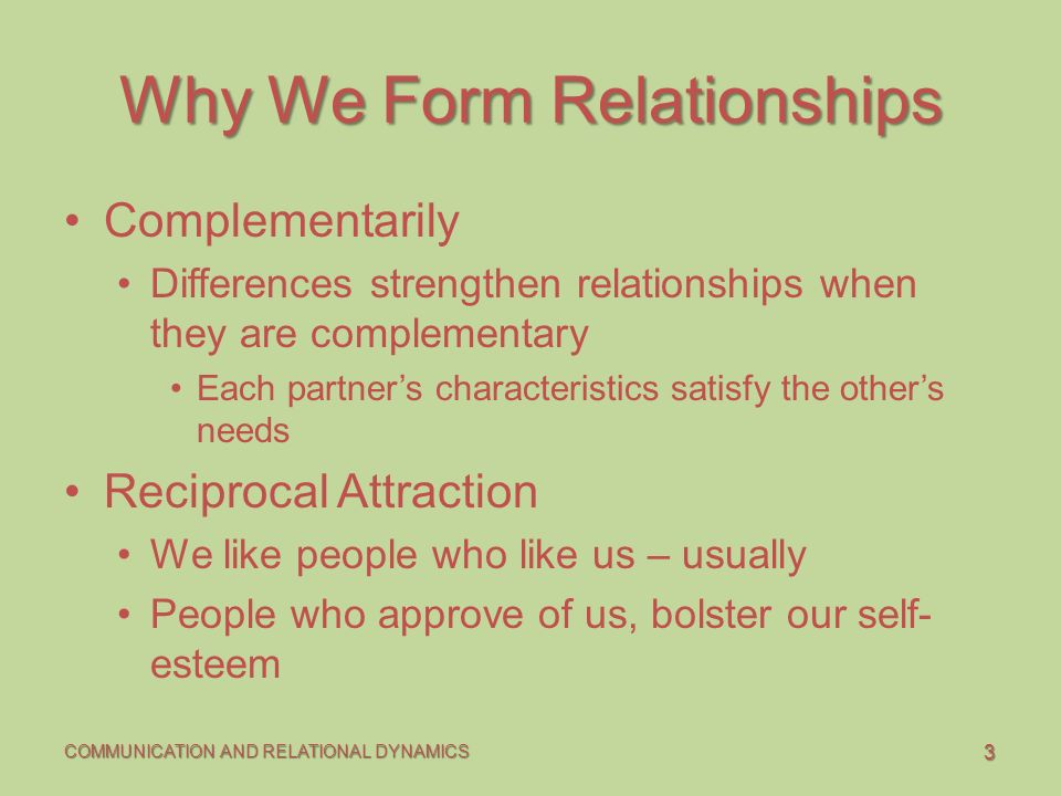 Form a dating relationship