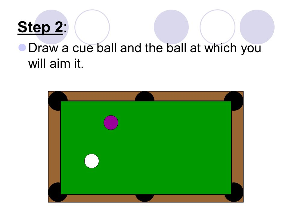how to draw a pool table step by step