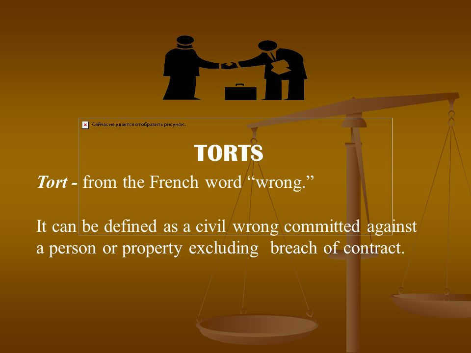 tort in french