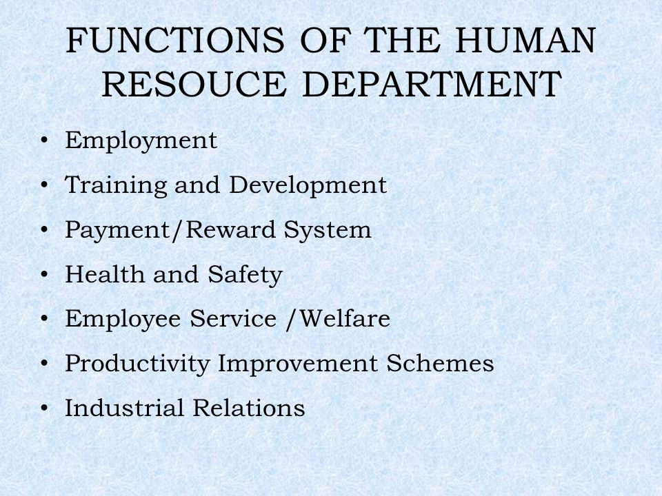 Maintain the health and welfare of employees by hrm