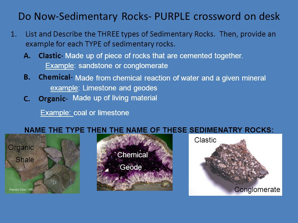 sedimentary rocks essay example Vii possible essay questions - name and describe the two processes by which sediment is made into sedimentary rock describe and draw a chart that illustrates the.