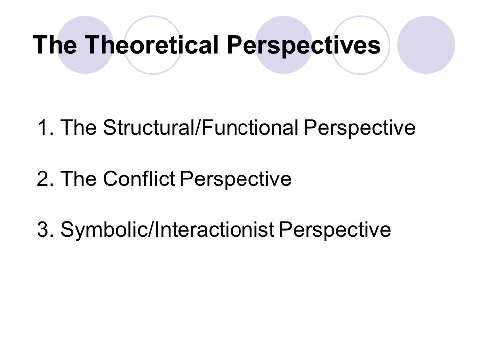 three major theoretical perspectives