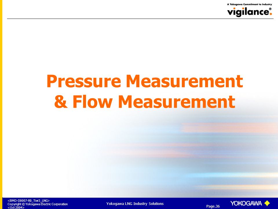 Pressure Measurement & Flow Measurement