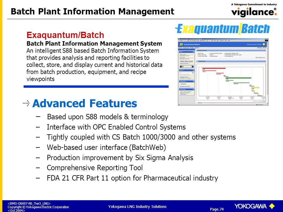 Batch Plant Information Management