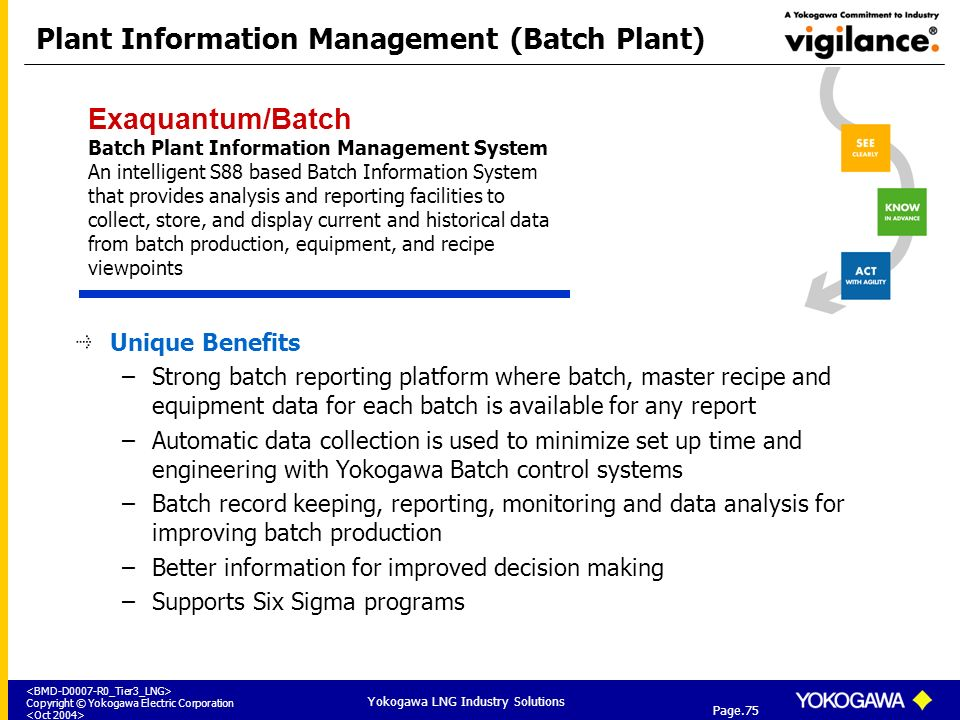 Plant Information Management (Batch Plant)