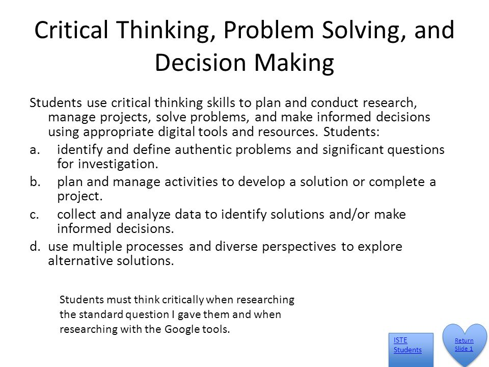 critical thinking and decision making in leadership Leadership – the importance of critical thinking posted september 26th, 2013 by martine sanscartier & filed under leadership development at marchfifteen, we are passionate about executive assessments and leadership development.