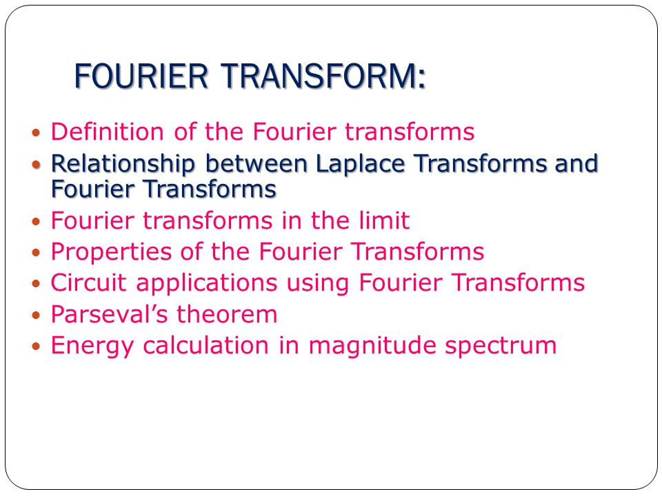 Chapter 5 fourier transform ppt video online download for Definition of space in a relationship