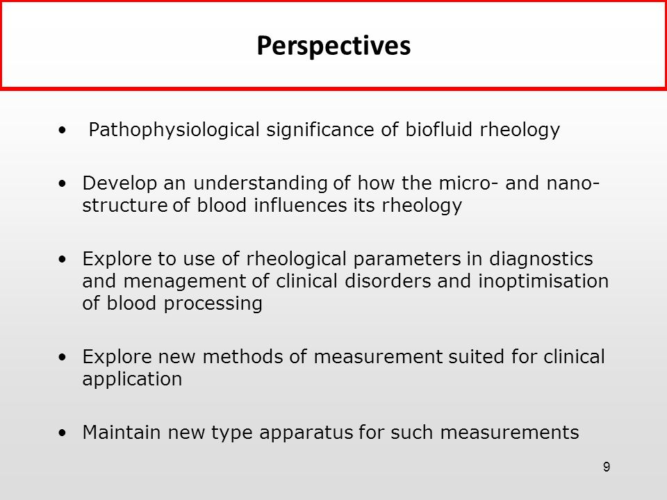 Perspectives Pathophysiological significance of biofluid rheology