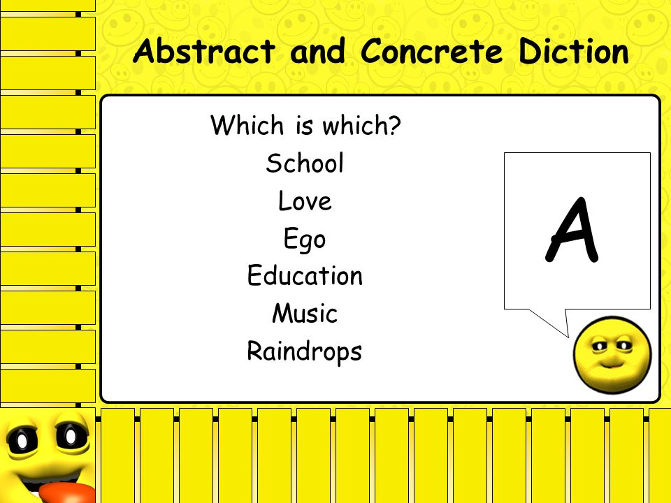Diction analyzing style ppt video online download for Concrete diction