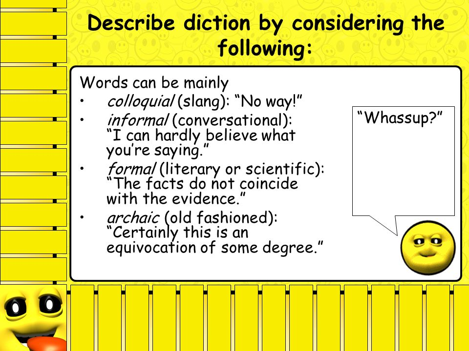 diction analyzing style