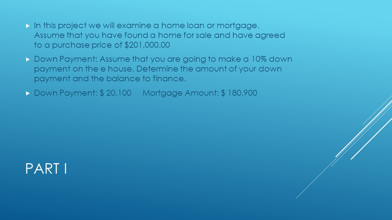 Math 1050 mortgage project maddie gale p ppt video online for Mortgage loan to build a house