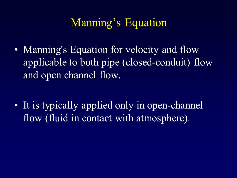 fluid dynamics flow in closed conduits Abstract this study was carried out to assess the ability of a computational fluid dynamics  methods for the measurement of fluid flow in closed conduits,.