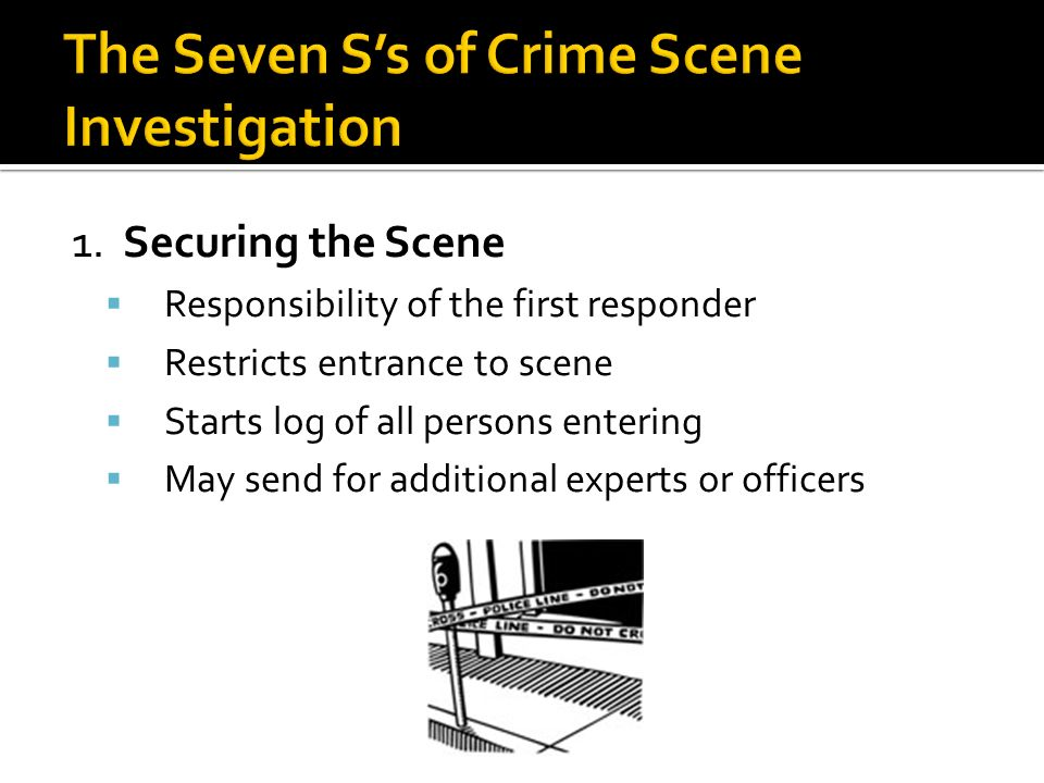 crime scene investigations by first responders The crime scene first responder, to the laboratory, to the court-room specifically,  crime scene investigations by first responders.