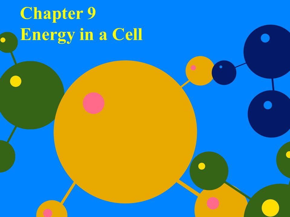 Chapter 9 Energy In A Cell Ppt Video