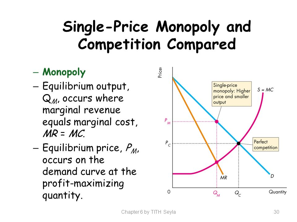 monopoly and marginal cost Regulated monopoly a monopolist will produce where its price is greater than its  marginal cost, indicating an under-allocation of resources.