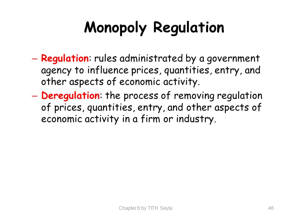 how does industrial regulation affect monopolies However, the argument that facebook is a monopoly and that it is an  that it  offers would negatively impact the business and make it less useful  the  telecommunication industry is now intensely regulated and still is.