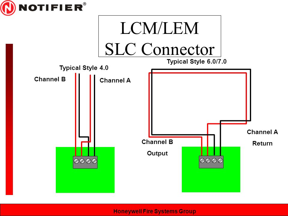 LCM%2FLEM+SLC+Connector+Typical+Style+6.0%2F7.0+Typical+Style+4.0 nfs system components & installation ppt video online download notifier wiring diagram at pacquiaovsvargaslive.co