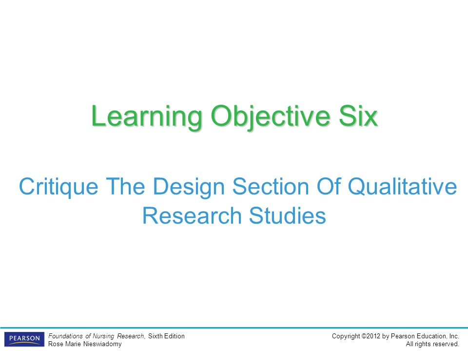a critique of the qualitative research This article presents a framework nurses can use to read and critique a research of qualitative results should to reading and critiquing a research article.