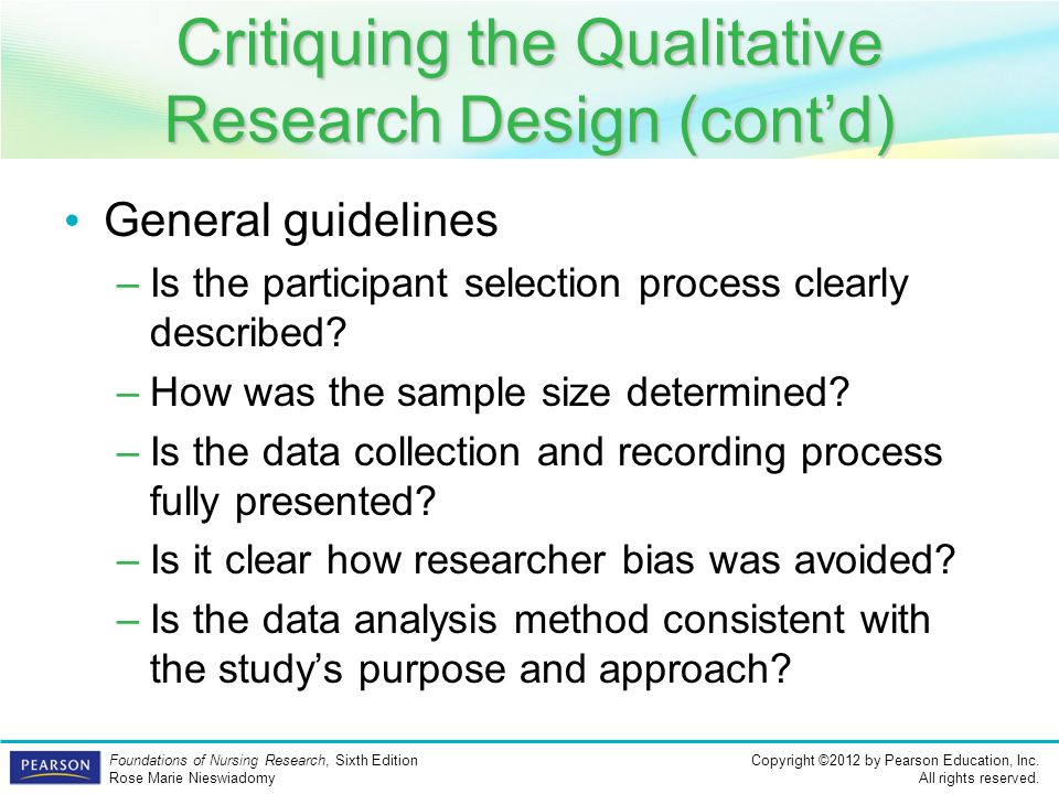 Quantitative nursing research critique paper