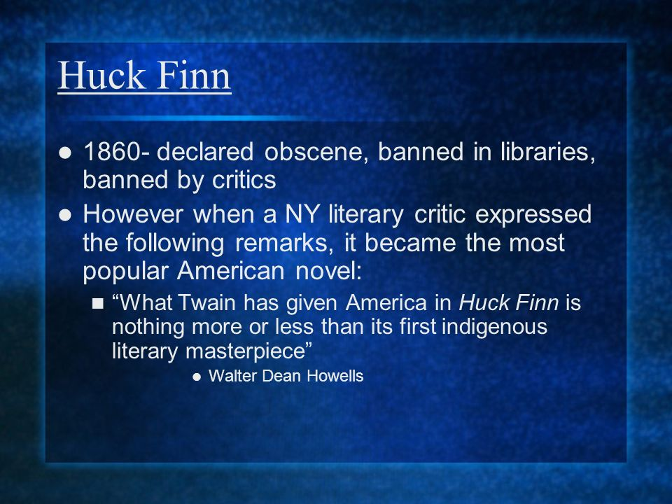 american literature english iii ppt video online  5 huck finn