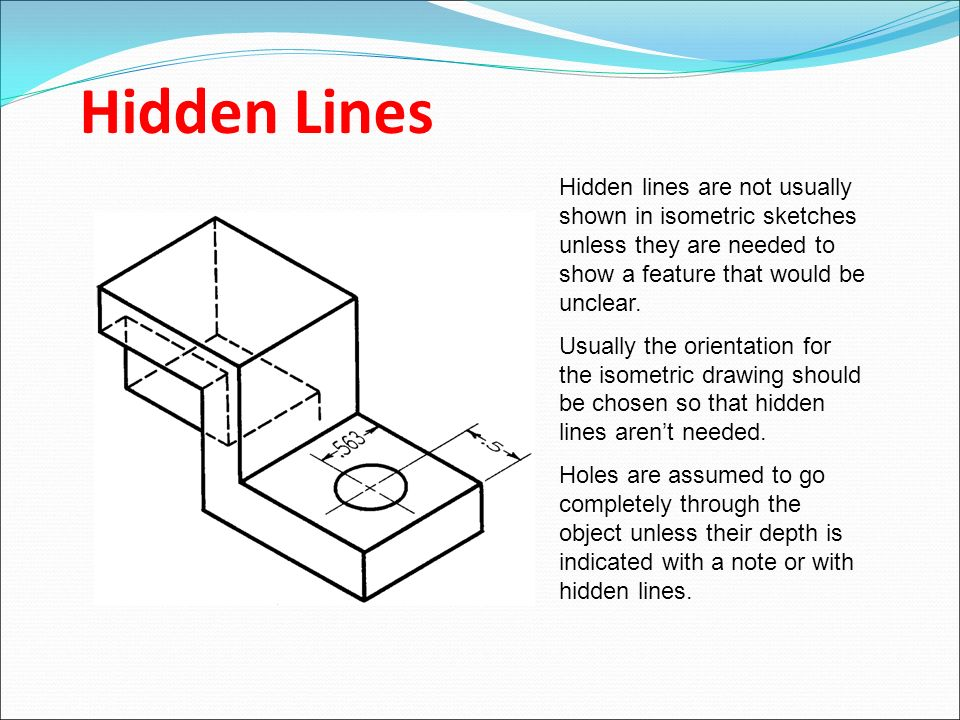 Drawing With Hidden Lines : Pictorial drawings ppt video online download