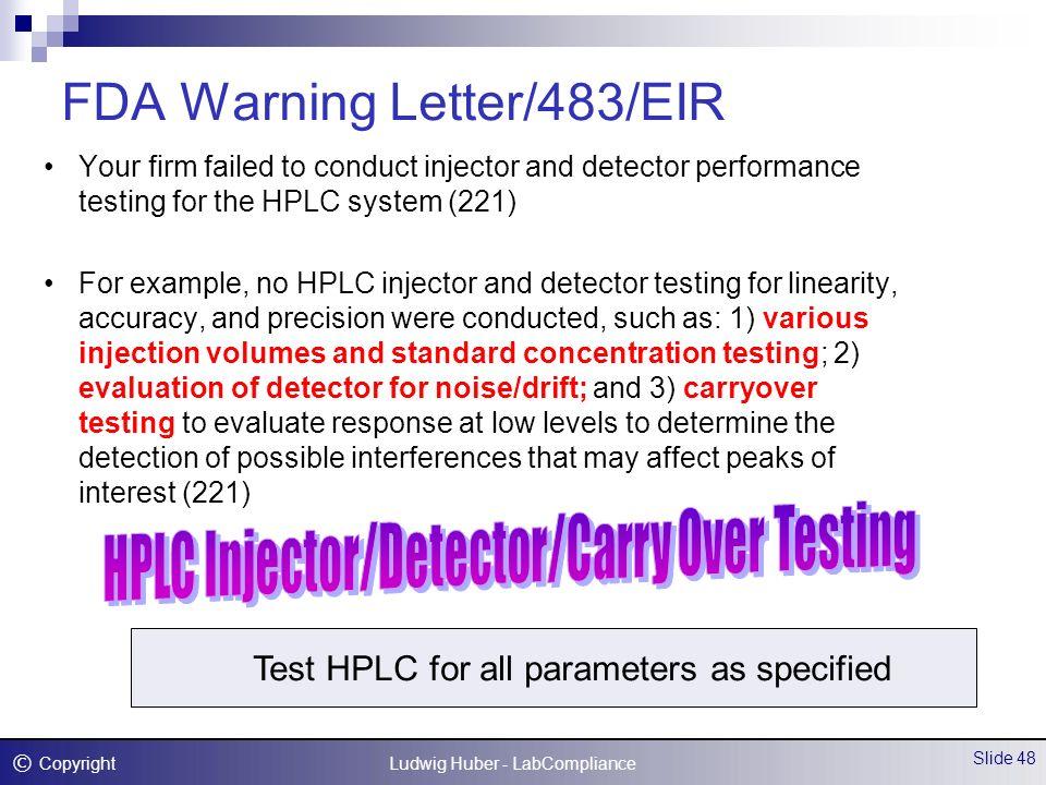 FDA/EU Compliance for Quality Control Laboratories - ppt download