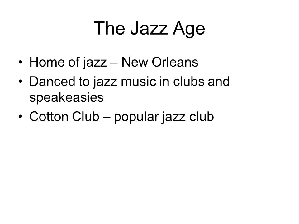 the jazz age rise in popularity Throughout the 1920s, jazz music evolved into an integral part of american  popular culture the primitive jazz sound that had originated in new orleans.