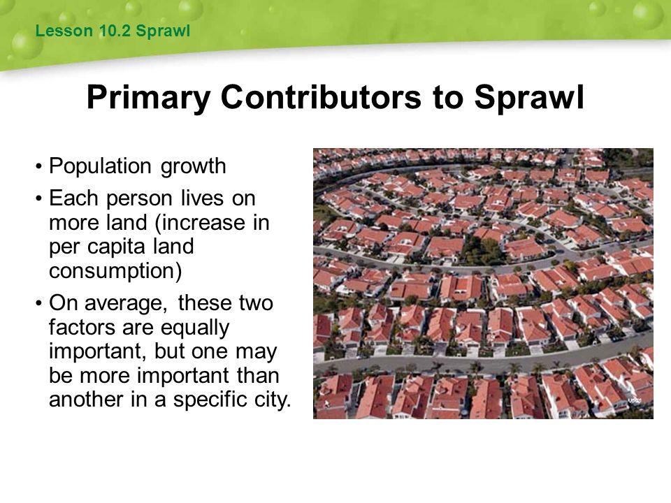 Primary Contributors to Sprawl