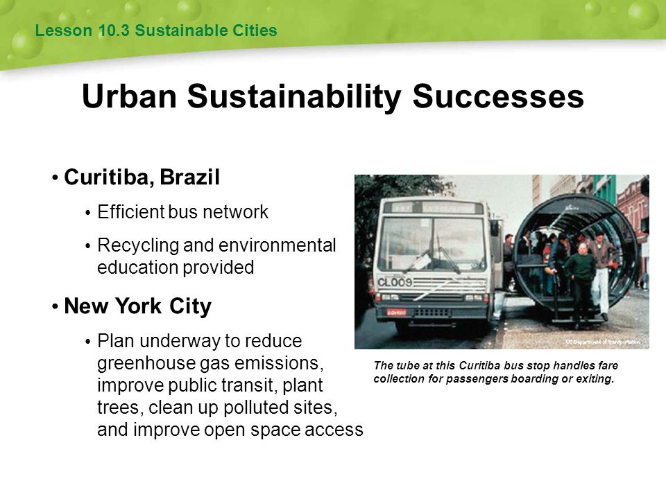 Urban Sustainability Successes