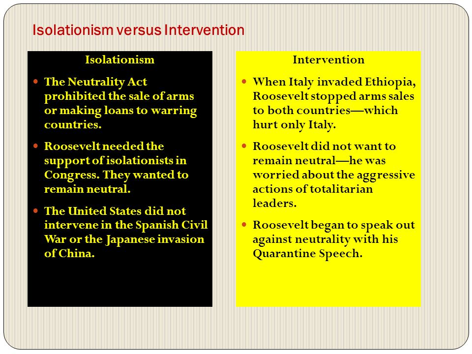 """interventionism vs isolationism Isolationism quotes quotes tagged as isolationism (showing 1-20 of 20)  , interventionism, isolationism, noninterventionism, realpolitik, sovereignty, war 4 likes like """"he is in many ways quite a right-wing isolationist it's because some people are naïve enough to confuse this with anti-imperialism that they think of him as being."""