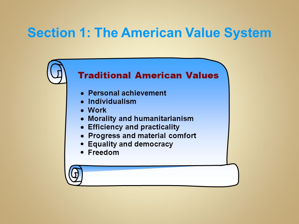 american value systems