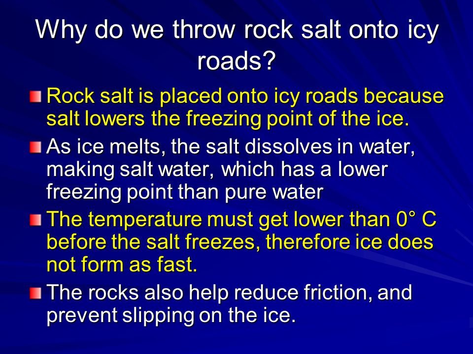 adding salt affecting freezing point of Does adding salt lower the boiling point of water you may have heard this and wondered if it was true why does salt affect boiling point.
