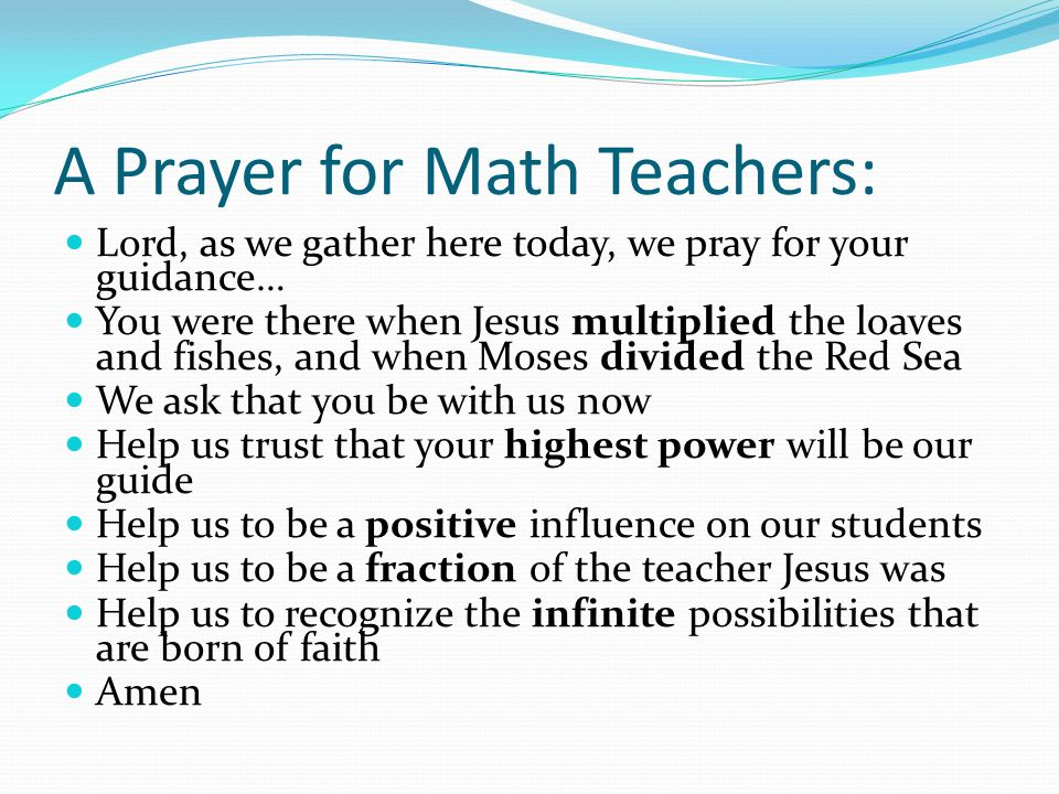mathematical prayer If we put the number of units for each prayer in a line to form a single number: 2 4 4 3 4 we find that 24434 = 19 x 1286 if we take the digits of the multiplier (1286) and add them: 1 + 2 + 8 + 6 = 17 and seventeen is the number of units of prayer table 2: the names of the prayer times are mathematically coded.