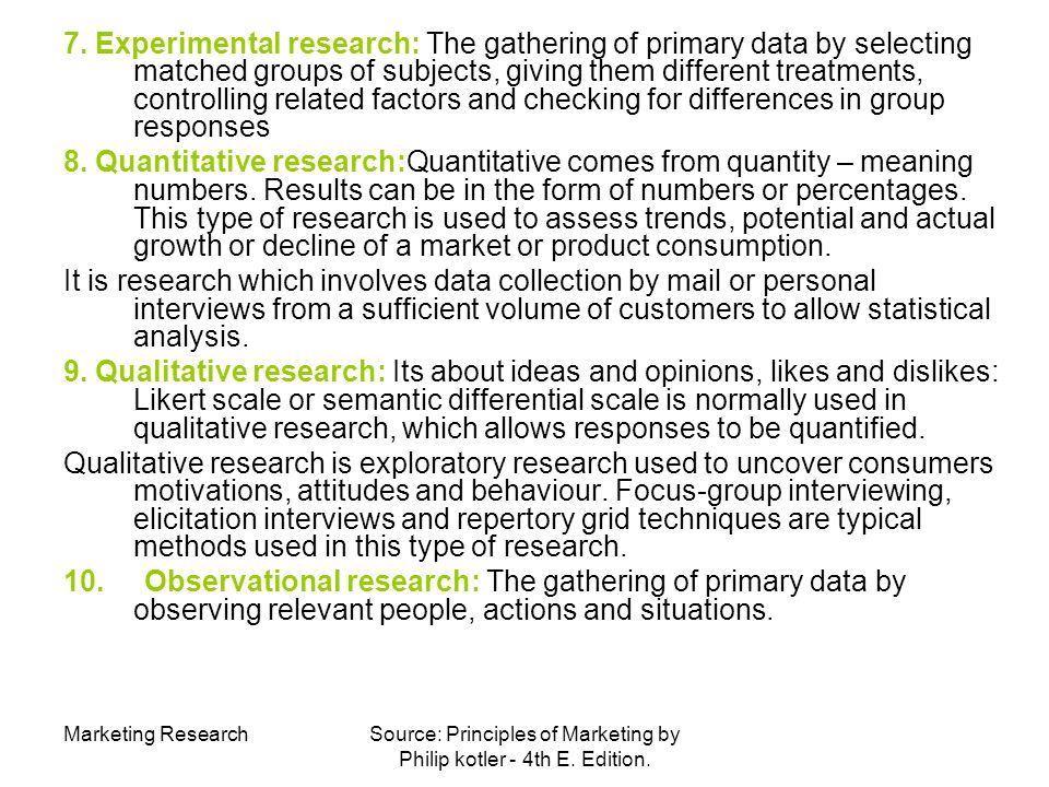 marketing research by philip kotler Kotler chapter 4 mcq for later  multiple choice questions for principles of marketing by philip kotler & gary armstrong  and marketing research it develops .
