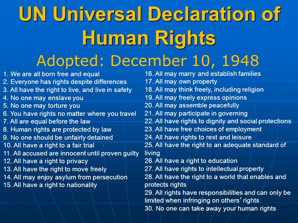 an introduction to the universal declaration of human rights The universal declaration of human rights for youth 3 introduction to human rights in 30 words 4 glossary of terms 5 activities sent by readers.