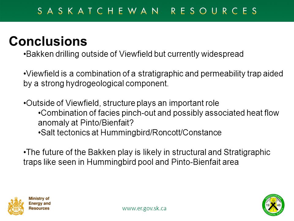 Conclusions Bakken drilling outside of Viewfield but currently widespread.