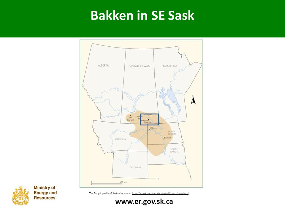 Bakken in SE Sask The Bakken Formation can be found in a broad region within a geological feature known as the Williston Basin.