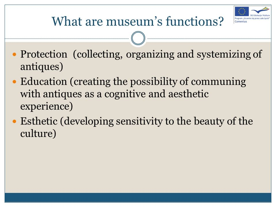 What are museum's functions